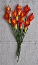 RED YELLOW CALLA LILY aka ARUM LILY Mulberry Paper Flowers